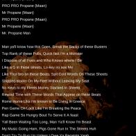 Mr. Propane Man Lyric Sheets (2)