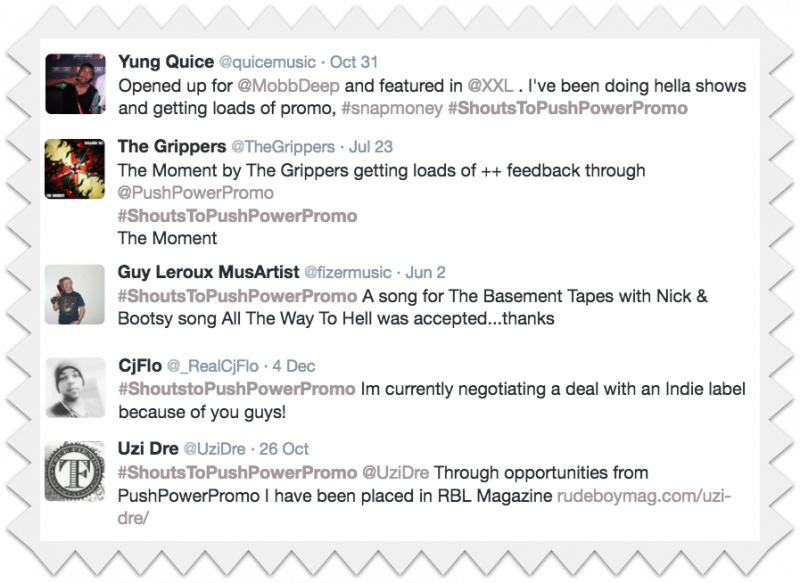 find out how to promote your music sucessfully like these members